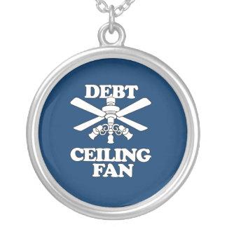 DEBT CEILING FAN ROUND PENDANT NECKLACE