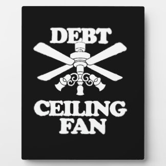 DEBT CEILING FAN PHOTO PLAQUES