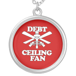 DEBT CEILING FAN ROUND PENDANT NECKLACE