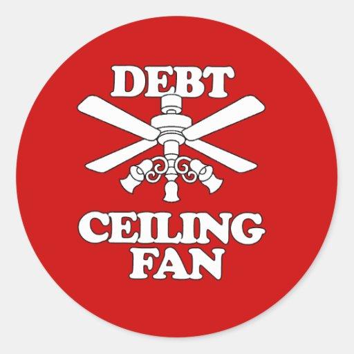 DEBT CEILING FAN STICKER