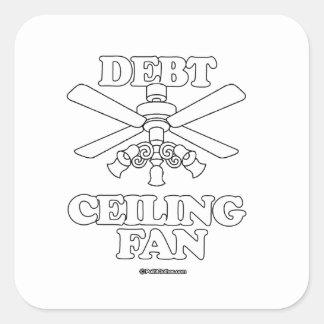 DEBT CEILING FAN SQUARE STICKER