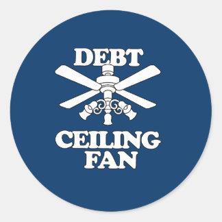 DEBT CEILING FAN ROUND STICKERS