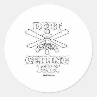 DEBT CEILING FAN ROUND STICKER