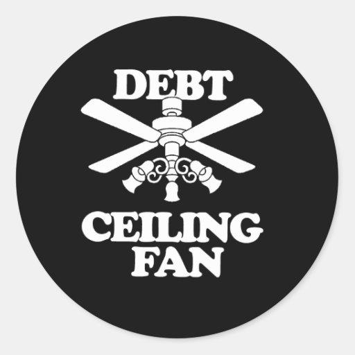 DEBT CEILING FAN STICKERS