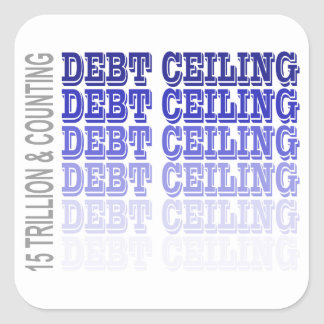 Debt Ceiling Merchandise Square Sticker