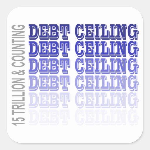 Debt Ceiling Merchandise Stickers