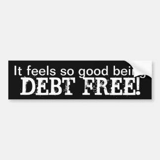 Debt-Free Bumper Sticker