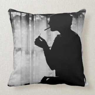 Debutante Smoking 1920 Throw Pillow