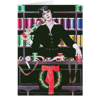 Dec 1916 Coles Phillips magazine cover Card
