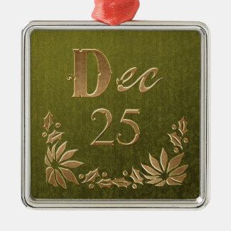 Dec. 25 Floral Christmas Tree Ornament