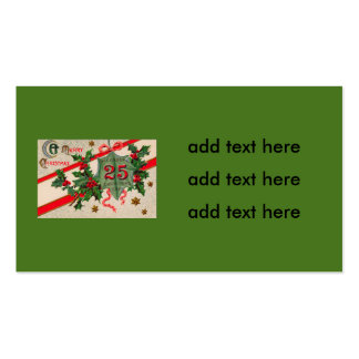 Dec 25th Holly Christmas Ornament Pack Of Standard Business Cards
