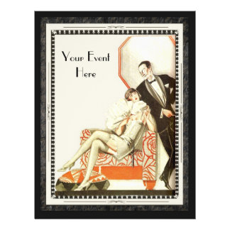 Decadent 1920s Art Deco Avant Garde Couple Custom Flyer