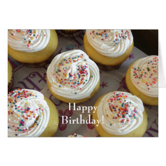 Decadent Cupcakes For Your Birthday Card
