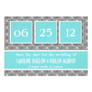 Decadent Damask Save the Date Announcement