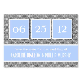 Decadent Damask Save the Date Card Business Card Templates