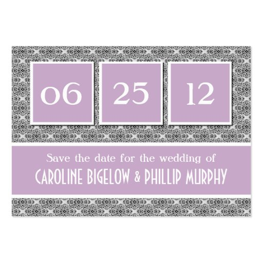 Decadent Damask Save the Date Card Business Cards