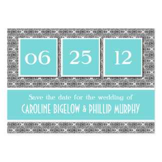 Decadent Damask Save the Date Card Pack Of Chubby Business Cards