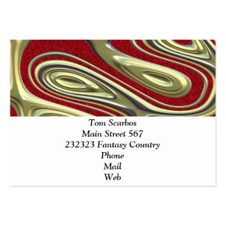 decadent illusion,red large business cards (Pack of 100)