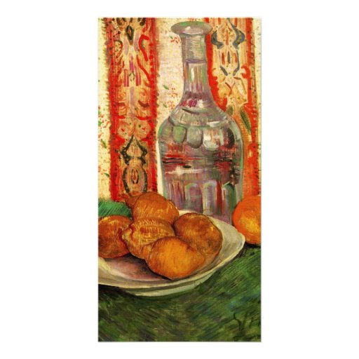 Decanter and Lemons on a Plate by van Gogh Customized Photo Card
