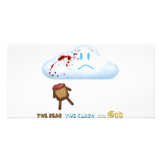 Decapitated Bear and Cloud Photo Greeting Card