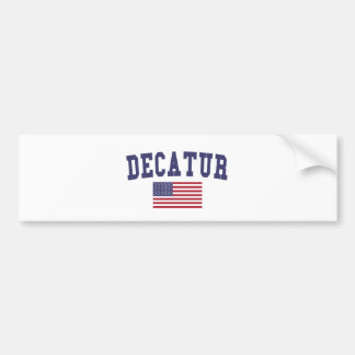 Decatur IL US Flag Bumper Sticker