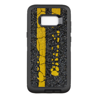 Decayed Double Yellow Line OtterBox Defender Samsung Galaxy S8+ Case