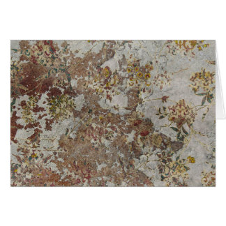 Decayed Flower Wallpaper Greeting Cards
