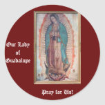 December 12   Our Lady of Guadalupe Round Stickers