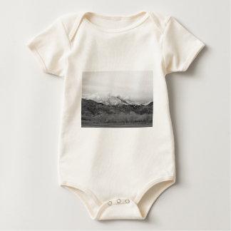 December 16th Twin Peak Sunrise BW View Baby Bodysuit