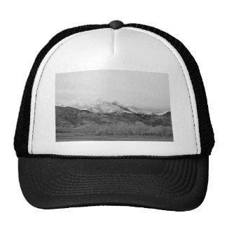 December 16th Twin Peak Sunrise BW View Mesh Hats