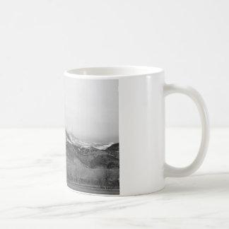 December 16th Twin Peak Sunrise BW View Coffee Mugs