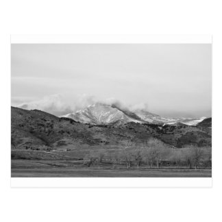 December 16th Twin Peak Sunrise BW View Postcard