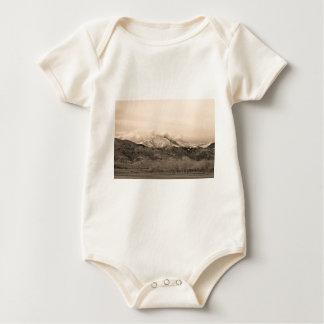 December 16th Twin Peak Sunrise Sepia View Baby Bodysuit
