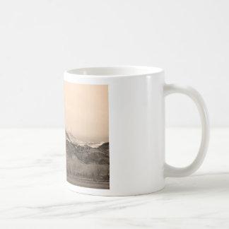 December 16th Twin Peak Sunrise Sepia View Mugs