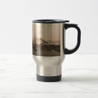 December 16th Twin Peak Sunrise Sepia View Coffee Mug