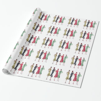 December 1929 Fashion Wrapping Paper