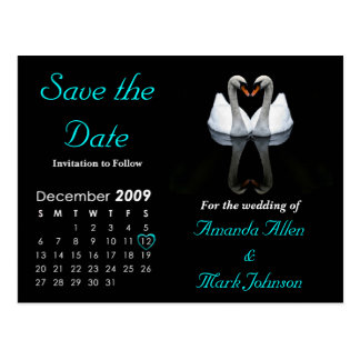 December 2009 Save the Date, Wedding Announcement Postcard