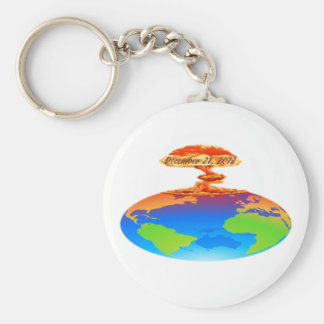 December 21, 2012 basic round button key ring