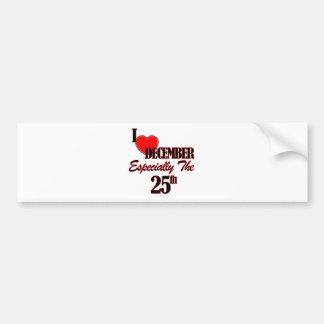 december 25 designs bumper stickers