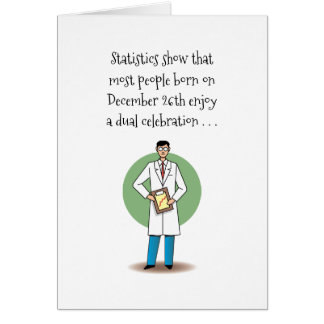 December 26th Birthday Christmas Card
