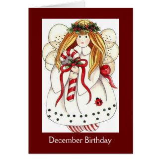 December Angel Birthday Card