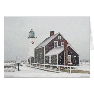 December at Scituate Light Card