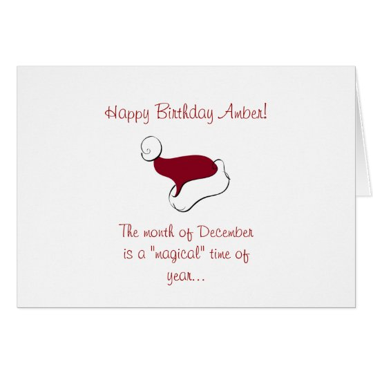 December Birthday Card
