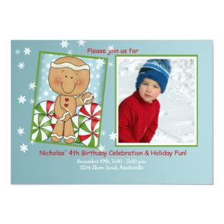 December Birthday - Photo Invitation