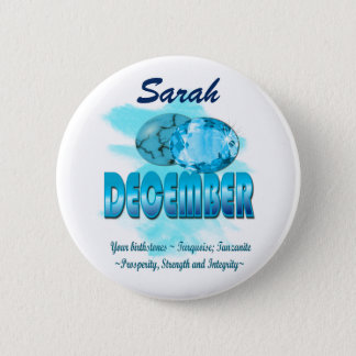 December Birthstone Picture and Meaning 6 Cm Round Badge