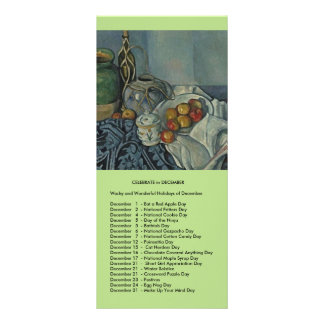 December events rack card template