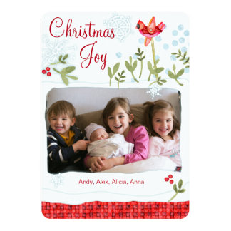 December Garden 5x7 double sided photo greetings Card
