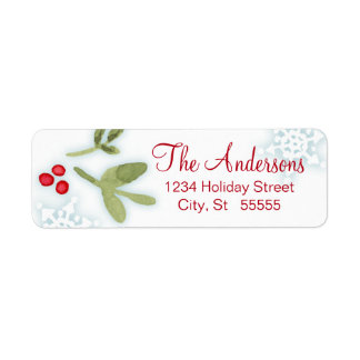 December Garden return address label