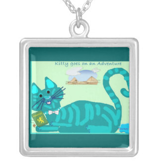 December Kitty Birthday Necklace