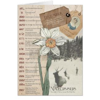 December Narcissus Birthday Card
